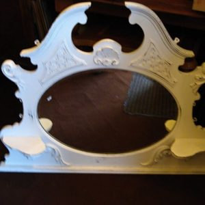 Edwardian painted overmantle mirror
